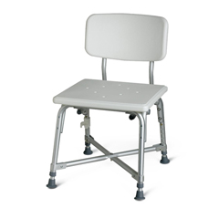 MEDMDS89745AXW - MedlineBariatric Aluminum Bath Bench with Back
