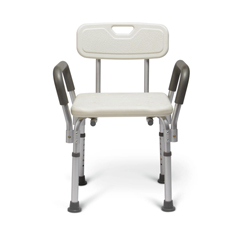 MEDMDS89745RAH - MedlineKnockdown Bath Bench with Arms, White, 1/EA