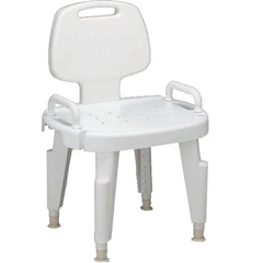 MEDMDS89755R - MedlineBench, Bath, with Back, with Arms, Composite
