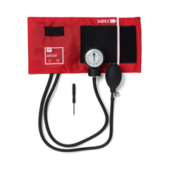 MEDMDS9104 - MedlineAneroid Sphygmomanometers, Hand-Held, with Nylon Case, Red
