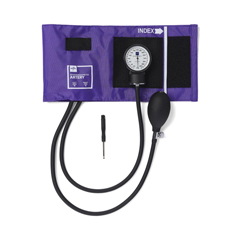 MEDMDS9113 - MedlineAneroid Sphygmomanometers, Hand-Held, with Nylon Case, Purple