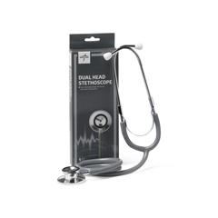 MEDMDS926202 - MedlineStethoscope, Dual Head, Gray