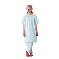 MEDMDT011277L - MedlineSnuggly Solids Pediatric Pajama Shirt- Blue, Large
