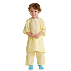 MEDMDT011277S - MedlineSnuggly Solids Pediatric Pajama Shirt- Yellow, Small