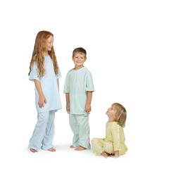 MEDMDT011281L - MedlineComfort-Knit Pediatric Gown- Blue, Large
