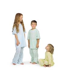 MEDMDT011282M - MedlineComfort-Knit Pediatric IV Gowns- Mint, Medium