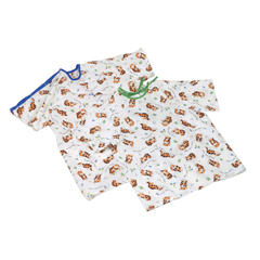 MEDMDT011286M - MedlineTired Tiger Print Pediatric Gowns