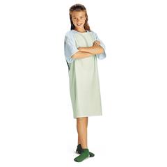 MEDMDT011369 - MedlineComfort-Knit Adolescent Patient Gowns- Mint