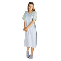 MEDMDT011370IV - MedlineComfort-Knit Teen IV Patient Gowns- Blue