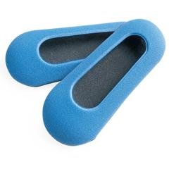 MEDMDT211215NL - Medline - Pediatric Foam Slippers, Green, Size L