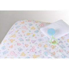 MEDMDT211472 - Medline - 100% Cotton Woven Crib Sheet, Print, 28 x 52