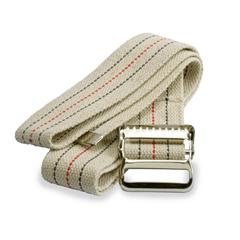 MEDMDT821203L - Medline - Washable Cotton Material Gait Belts, Beige with Stripes, 1/EA