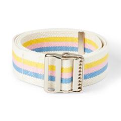 MEDMDT821204 - Medline - Washable Cotton Material Gait Belts, Multi-Color Pastel, 1/EA