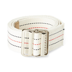 MEDMDT828203 - Medline - Washable Cotton Material Gait Belts, Red, White & Blue Stripes, 6 EA/CS