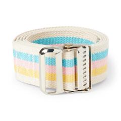 MEDMDT828204C - Medline - Belt, Transfer, Cotton, 60, Metal Buckle, Pastel Stripes