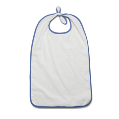 MEDMDTAB5B38WHI - Medline - Ez Tie Terry-Cloth Bib, Adult, 12 oz., 21 x 38, White, 12 EA/DZ