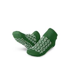 MEDMDTDBLTREADM - Medline - Slipper, Double-Tread, Medium, Green