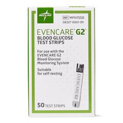 MEDMPH1550Z - Medline - EVENCARE G2 Blood Glucose Monitoring System, 50 EA/BX