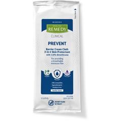 MEDMSC092503H - Medline - Remedy Phytoplex Barrier Cream Cloths with Dimethicone, 3 EA/PK