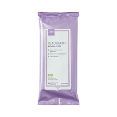 MEDMSC095304H - Medline - ReadyBath Total Body Cleansing Standard Weight Washcloths