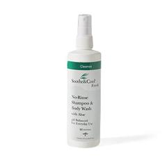 MEDMSC095442 - MedlineSoothe & Cool No Rinse Shampoo & Body Wash