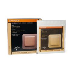 MEDMSC1066EPZ - MedlineDressing, Foam, Adhesive, Optifoam, 6x6, (4.5x4.5 Pad)