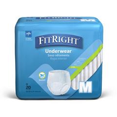 MEDMSC13005A - MedlineFitRight Extra-Protective Underwear, Medium, 80 EA/CS
