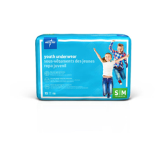 MEDMSC23001A - MedlineDryTime Disposable Protective Youth Underwear