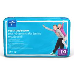 MEDMSC23003AH - MedlineDryTime Disposable Protective Youth Underwear, Large/X-Large, 12EA/BG