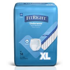 MEDMSC23600 - MedlineProtection Plus Classic Adult Underwear, X-Large, 56 EA/CS