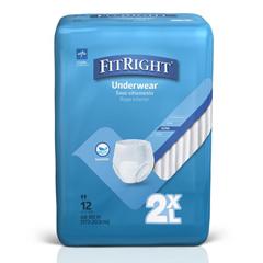 MEDMSC23700Z - Medline - Protection Plus Classic Adult Underwear, 2X-Large, 12 EA/BG
