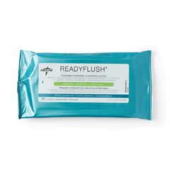 MEDMSC263810H - MedlineReadyFlush Biodegradable Flushable Wipes 8 x 12