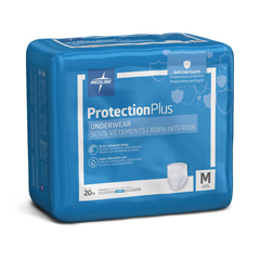MEDMSC33005 - MedlineProtection Plus Superabsorbent Adult Underwear, Medium, 80 EA/CS