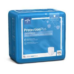 MEDMSC33700 - MedlineProtection Plus Super Protective Adult Underwear, 2XL, 48EA/CS