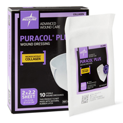 MEDMSC8622EPZ - Medline - Puracol Plus Collagen Dressing, 2 x 2.2, 4.50 ML, 10 EA/BX