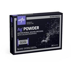 MEDMSC9410 - Medline - Ag+ Powder Antimicrobial Wound Dressing with Calcium Phosphate, 10 Gram