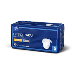 MEDMTB80200 - Medline - Extended Wear High-Capacity Adult Incontinence Briefs, 19- 31, 120 EA/CS