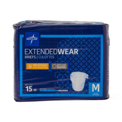 MEDMTB80300 - MedlineExtended Wear High-Capacity Adult Incontinence Briefs, 27- 43, 60 EA/CS