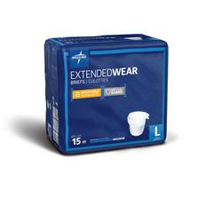 MEDMTB80500 - Medline - Extended Wear High-Capacity Adult Incontinence Briefs, 45- 59, 60 EA/CS