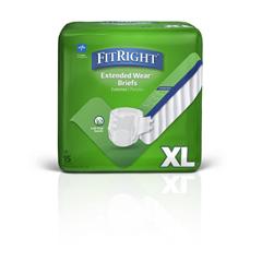 MEDMTB80600Z - Medline - Extended Wear High-Capacity Adult Incontinence Briefs, 45- 65, 15 EA/BG