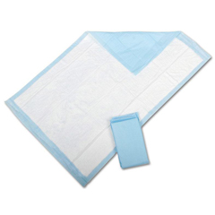 MEDMUP1266PZ - Medline - Disposable Fluff Underpads, Blue, 30 X 30, 10 EA/BG