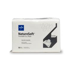 MEDNATURESOFT913 - MedlineNatureSoft Flushable Cleansing Dry Wipes