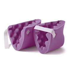 MEDNON081440PH - MedlineConvoluted Foam Heel Protectors, Purple, 2 EA/PR