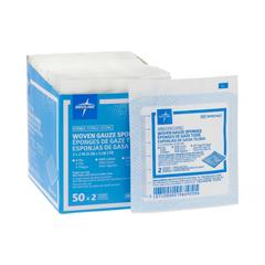 MEDNON21420H - Medline - Sterile 100% Cotton Woven Gauze Sponges, 100 EA/BX