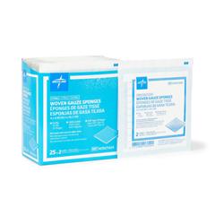 MEDNON21424H - Medline - Sterile 100% Cotton Woven Gauze Sponges, 50 EA/BX