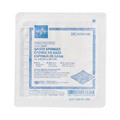 MEDNON21426H - Medline - Sterile 100% Cotton Woven Gauze Sponges, 10 EA/BX