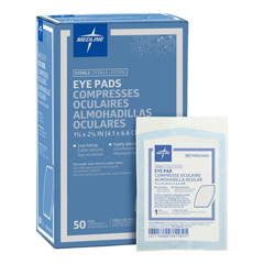 MEDNON21600Z - Medline - Pad, Eye, 1.625 x 2.625, Latex-Free, Sterile, 1 Pk