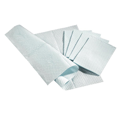 MEDNON24357B - Medline - 3-Ply Tissue Professional Paper Towel, Blue, 13 x 18, 500 EA/CS