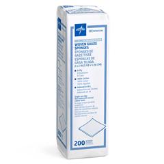 MEDNON25208H - Medline - Nonsterile 100% Cotton Woven Gauze Sponges, 200 EA/PK