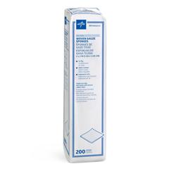 MEDNON25212H - Medline - Nonsterile 100% Cotton Woven Gauze Sponges